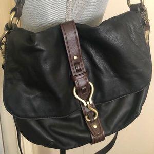 Cole Haan equestrian-inspired satchel
